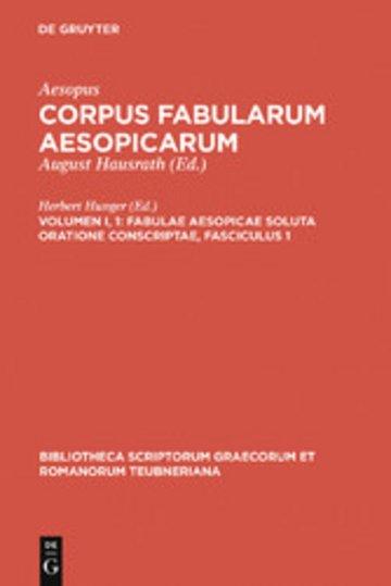 eBook Fabulae Aesopicae soluta oratione conscriptae, Fasciculus 1 Cover
