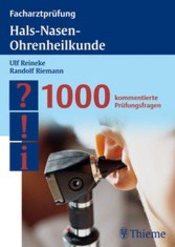 eBook Facharztprüfung Hals-Nasen-Ohrenheilkunde Cover