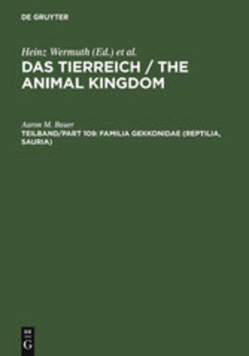 eBook Familia Gekkonidae (Reptilia, Sauria). Part I: Australia and Oceania Cover