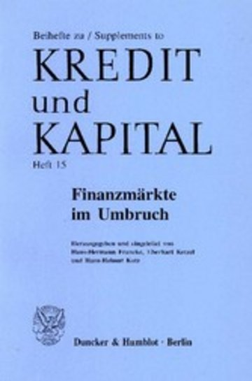 eBook Finanzmärkte im Umbruch. Cover