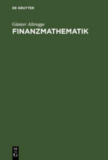 eBook Finanzmathematik Cover