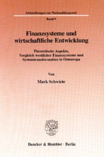 eBook Finanzsysteme und wirtschaftliche Entwicklung. Cover