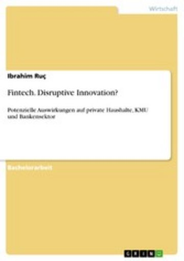 eBook Fintech. Disruptive Innovation? Cover