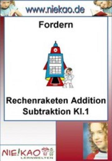 eBook Fordern - Rechenraketen ´´Addition Subtraktion Kl.1´´ Cover