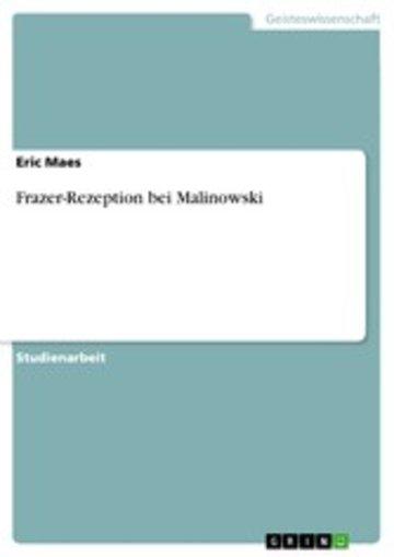 eBook Frazer-Rezeption bei Malinowski Cover