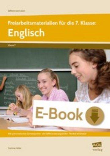 eBook Freiarbeitsmaterialien für die 7. Klasse: Englisch Cover