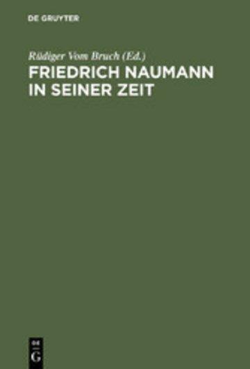 eBook Friedrich Naumann in seiner Zeit Cover