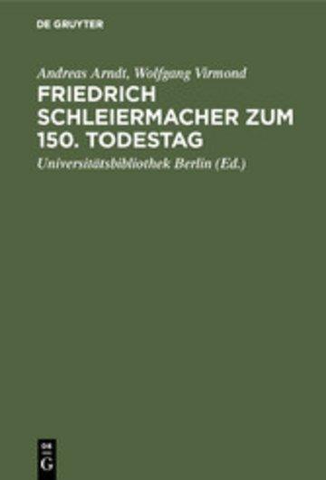 eBook Friedrich Schleiermacher zum 150. Todestag Cover