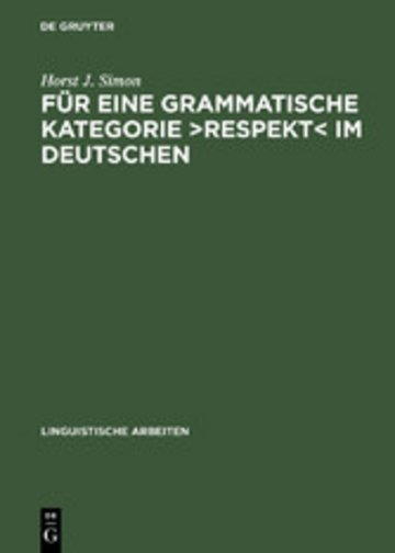 eBook Für eine grammatische Kategorie >Respekt< im Deutschen Cover