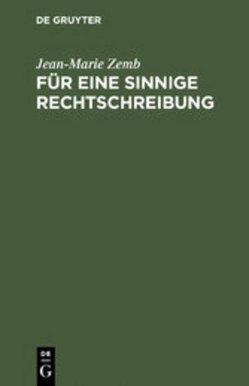 eBook Für eine sinnige Rechtschreibung Cover