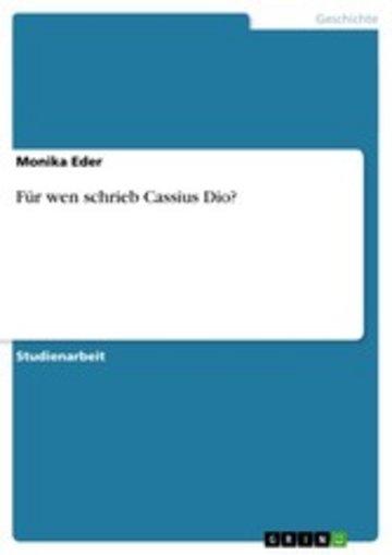 eBook Für wen schrieb Cassius Dio? Cover