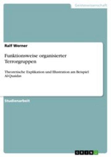 eBook Funktionsweise organisierter Terrorgruppen Cover