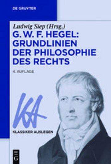 eBook G. W. F. Hegel: Grundlinien der Philosophie des Rechts Cover