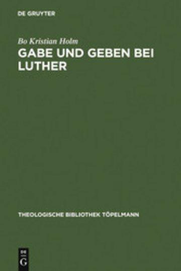 eBook Gabe und Geben bei Luther Cover