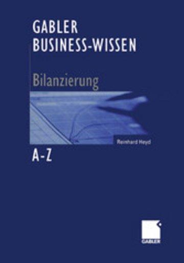 eBook Gabler Business-Wissen A-Z Bilanzierung Cover