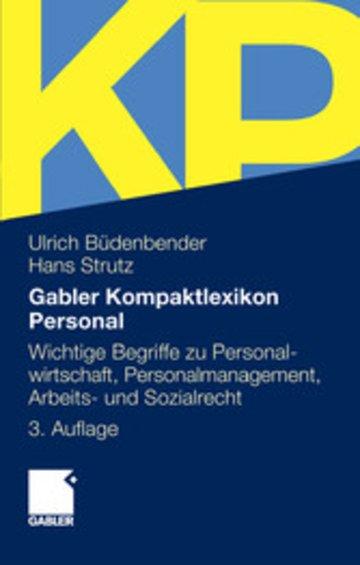 eBook Gabler Kompaktlexikon Personal Cover