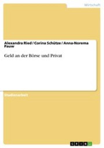 eBook Geld an der Börse und Privat Cover
