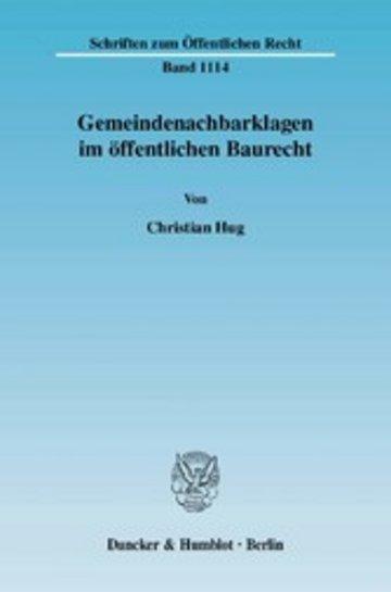 eBook Gemeindenachbarklagen im öffentlichen Baurecht. Cover