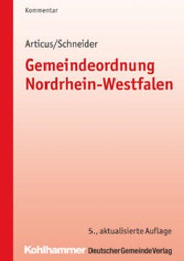 eBook Gemeindeordnung Nordrhein-Westfalen Cover