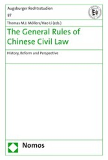 eBook The General Rules of Chinese Civil Law Cover