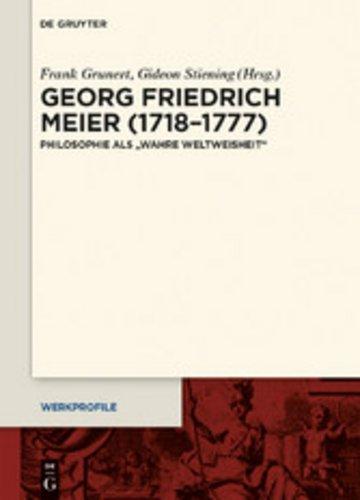eBook Georg Friedrich Meier (1718-1777) Cover