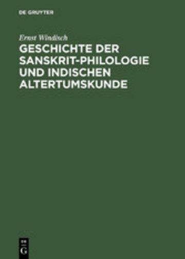 eBook Geschichte der Sanskrit-Philologie und Indischen Altertumskunde Cover