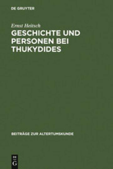 eBook Geschichte und Personen bei Thukydides Cover