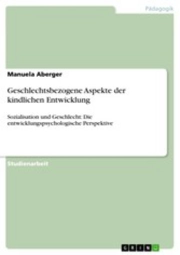 eBook Geschlechtsbezogene Aspekte der kindlichen Entwicklung Cover