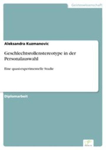 eBook Geschlechtsrollenstereotype in der Personalauswahl Cover