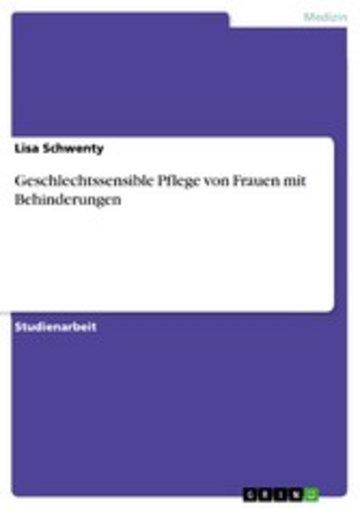 eBook Geschlechtssensible Pflege von Frauen mit Behinderungen Cover