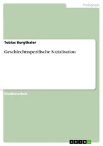 eBook Geschlechtsspezifische Sozialisation Cover