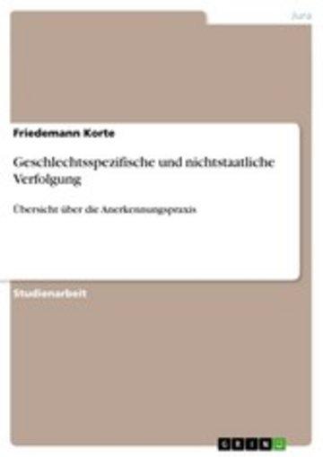 eBook Geschlechtsspezifische und nichtstaatliche Verfolgung Cover