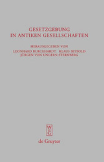 eBook Gesetzgebung in antiken Gesellschaften Cover