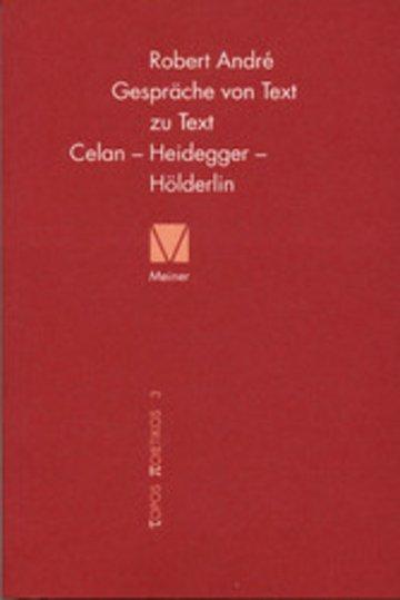 eBook Gespräche von Text zu Text. Celan - Heidegger - Hölderlin Cover