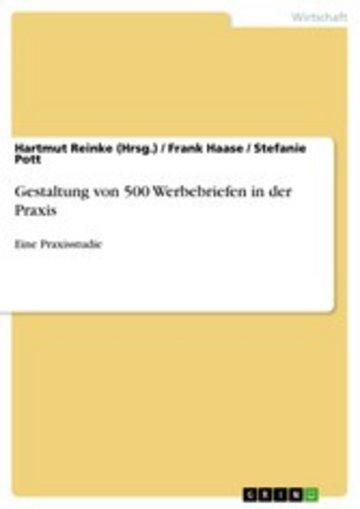 eBook Gestaltung von 500 Werbebriefen in der Praxis Cover