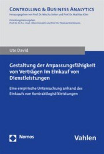 eBook Gestaltung der Anpassungsfähigkeit von Verträgen im Einkauf von Dienstleistungen Cover