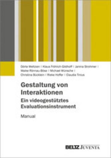 eBook Gestaltung von Interaktionen - Ein videogestütztes Evaluationsinstrument Cover