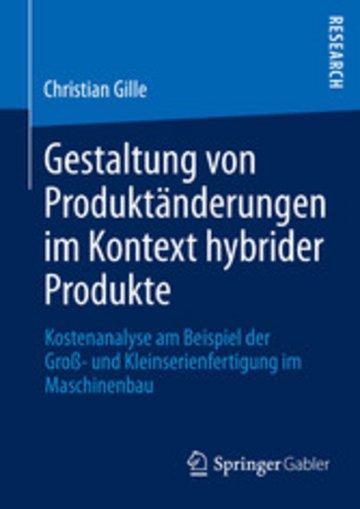 eBook Gestaltung von Produktänderungen im Kontext hybrider Produkte Cover
