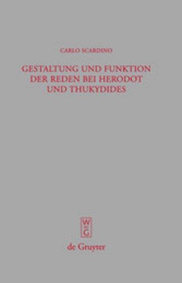 eBook Gestaltung und Funktion der Reden bei Herodot und Thukydides Cover