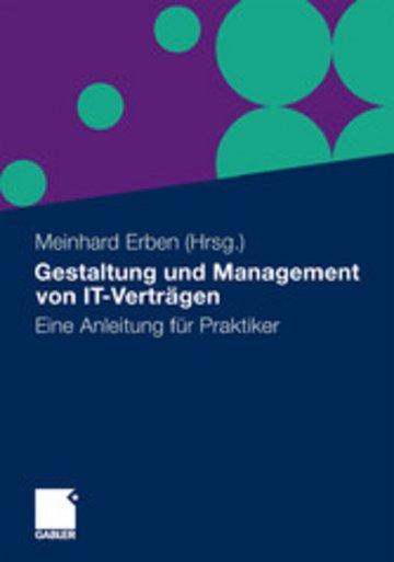 eBook Gestaltung und Management von IT-Verträgen Cover