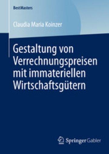 eBook Gestaltung von Verrechnungspreisen mit immateriellen Wirtschaftsgütern Cover