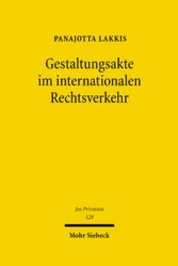eBook Gestaltungsakte im internationalen Rechtsverkehr Cover