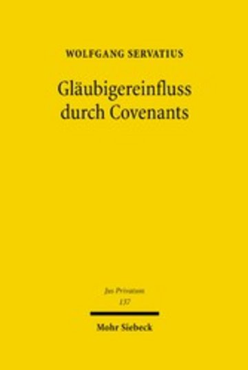 eBook Gläubigereinfluss durch Covenants Cover