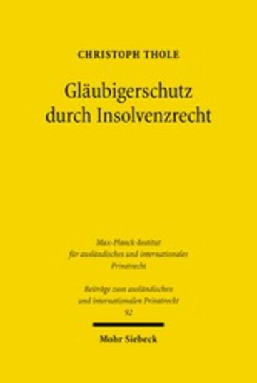 eBook Gläubigerschutz durch Insolvenzrecht Cover
