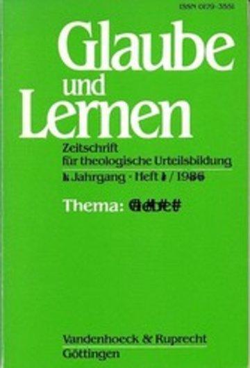 eBook Glaube und Lernen 1/2008 Themenheft: Schöpfung und Natur Cover