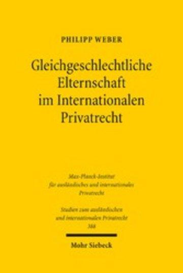 eBook Gleichgeschlechtliche Elternschaft im Internationalen Privatrecht Cover