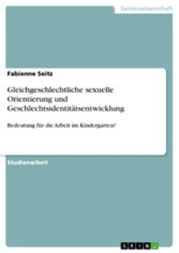 eBook Gleichgeschlechtliche sexuelle Orientierung und Geschlechtsidentitätsentwicklung Cover