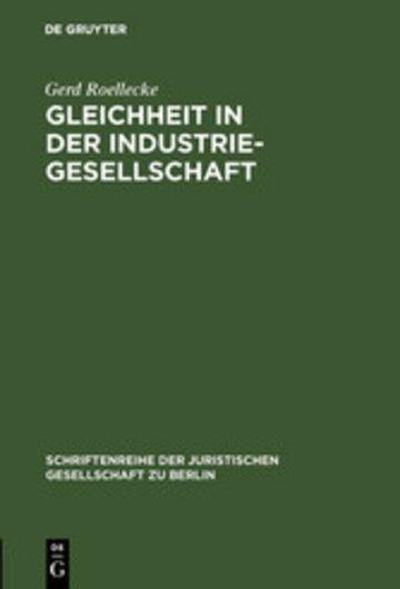 eBook Gleichheit in der Industriegesellschaft Cover