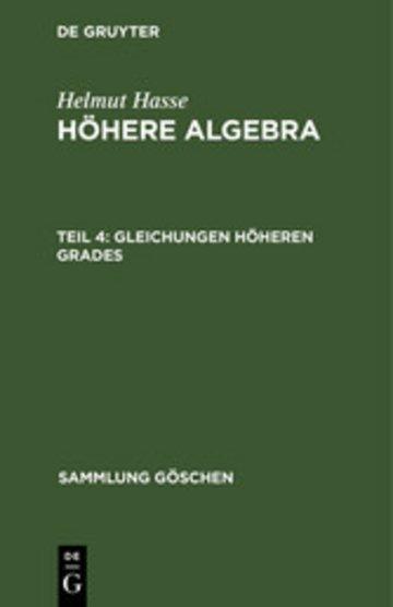 eBook Gleichungen höheren Grades Cover
