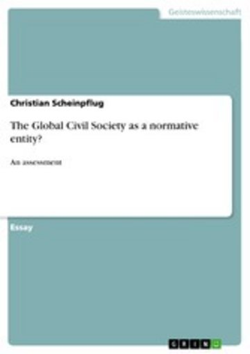 eBook The Global Civil Society as a normative entity? Cover